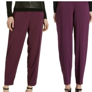 Theory Lannya Ankle Trousers Pant in Purple Size 2